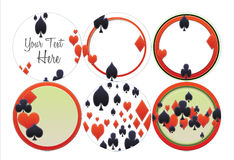 O cartão sere o pôquer, Euchre, Black Jack, corações, pás, diamantes Imagens de Stock Royalty Free