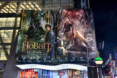 O cartaz cinematográfico de Hobbit Foto de Stock