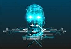 O cartaz com cabeça do homem 3D ilustração do vetor