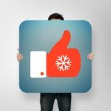 O cartaz com Natal gosta do ícone Fotografia de Stock