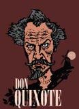 O cartaz da parede para don Quixote ilustração do vetor