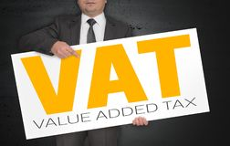 O cartaz do ICM é mantido pelo homem de negócios foto de stock royalty free