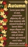 O cartaz do outono Imagem de Stock