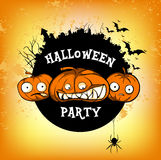 O cartaz halloven o partido Fotos de Stock Royalty Free