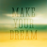 O cartaz tipográfico das citações faz seu sonho Imagens de Stock Royalty Free