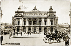 O cartão da ópera de Paris Imagem de Stock Royalty Free