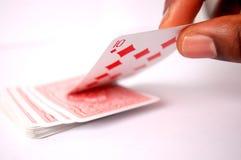 O cartão do diamante Imagens de Stock