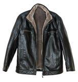 O casaco de cabedal dos homens Fotografia de Stock
