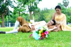 O casamento casa pares Imagem de Stock Royalty Free