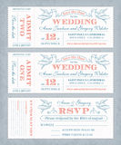 O casamento do vetor convida bilhetes Fotos de Stock