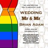 O casamento para o convite carda a comunidade do lgbt Ilustração do vetor ilustração royalty free