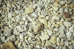 O cascalho apedreja o fundo, textura Fotografia de Stock Royalty Free