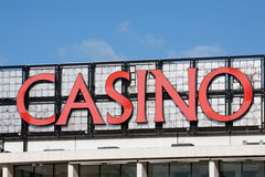O casino assina dentro Estoril, Portugal Imagens de Stock