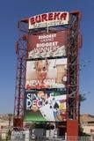 O casino de Eureka assina dentro o Mesquite, nanovolt o 24 de maio de 2013 Fotografia de Stock Royalty Free
