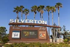 O casino de Silverton assina dentro Las Vegas, nanovolt o 18 de maio de 2013 Imagem de Stock Royalty Free