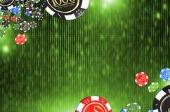 O casino lasca o fundo Fotografia de Stock Royalty Free
