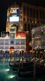 O casino Venetian do hotel de recurso em Las Vegas Fotografia de Stock