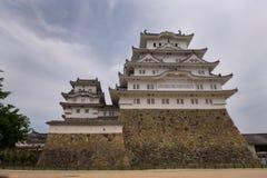 O castelo bonito de Himeji do patrimônio mundial do UNESCO Imagem de Stock Royalty Free