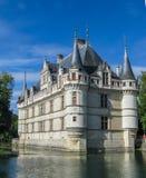 O castelo bonito em Azay le Rideau no Loire foto de stock
