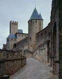O castelo Carcassone Fotos de Stock Royalty Free