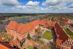 O castelo da ordem Teutonic em Malbork Imagens de Stock Royalty Free
