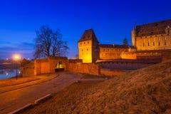 O castelo da ordem Teutonic em Malbork Foto de Stock Royalty Free