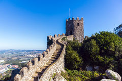 O castelo de amarra, Sintra, Portugal Foto de Stock