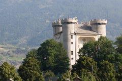 O castelo de Aymavilles Fotografia de Stock Royalty Free