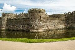 O castelo de Beaumaris foto de stock