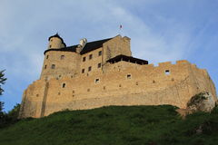O castelo de Bobolice arruina poland. Foto de Stock
