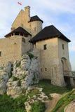O castelo de Bobolice arruina poland. Fotografia de Stock