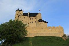 O castelo de Bobolice arruina poland. Fotos de Stock Royalty Free