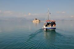O castelo de Bourtzi, Nafplio - Grécia Fotografia de Stock