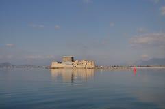 O castelo de Bourtzi, Nafplio - Grécia Imagem de Stock Royalty Free
