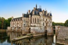 O castelo de Chenonceau, França Fotografia de Stock
