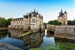 O castelo de Chenonceau, França Fotografia de Stock Royalty Free