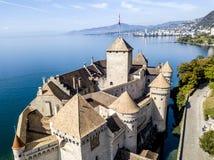 O castelo de Chillon Fotografia de Stock Royalty Free