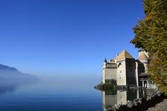 O castelo de Chillon em Montreux, Switzerland Fotografia de Stock