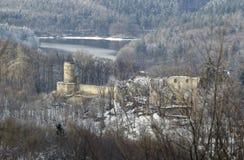 O castelo de Cimburk imagens de stock
