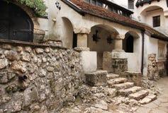 O castelo de Dracula na Transilvânia Foto de Stock