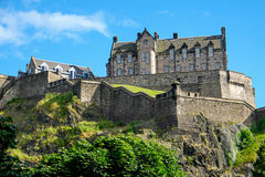 O castelo de Edimburgo Imagens de Stock Royalty Free