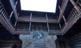 O castelo de Fenis foto de stock