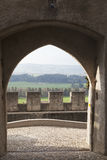 O castelo de Gruyères (Château de imagens de stock