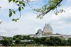 O castelo de Himeji, filme de Hollywood, último samurai foi filmado aqui imagem de stock