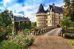 O castelo de l'Islette, França Fotos de Stock Royalty Free