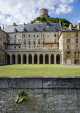 O castelo de La Roche-Guyon, França Fotos de Stock