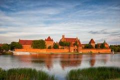 O castelo de Malbork Fotos de Stock Royalty Free