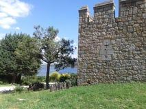 O castelo de Mendonza, Manzanares el Real, Espanha, ao sul de Europa Imagens de Stock Royalty Free