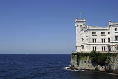 O castelo de Miramare Fotografia de Stock