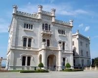 O castelo de Miramare   Foto de Stock Royalty Free